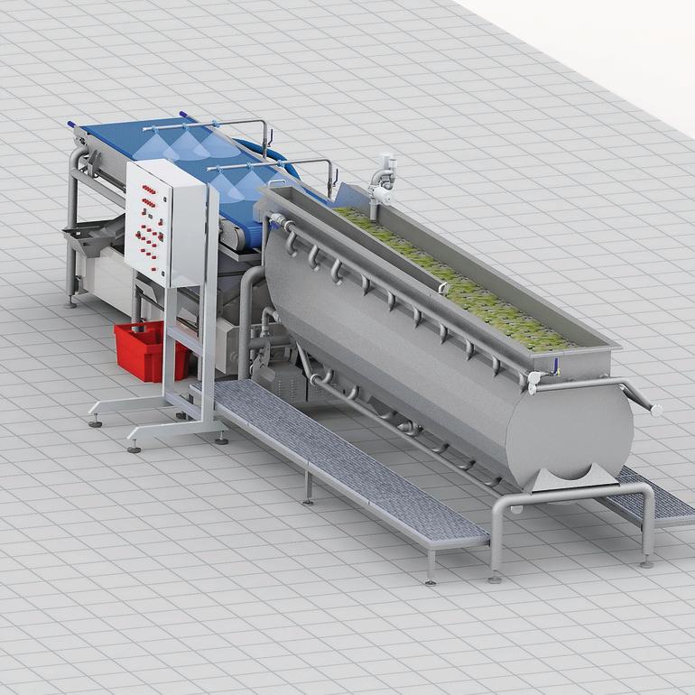 Waschanlage für obst und gemüse prozesstechnik online