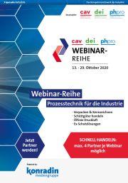Verkaufsunterlage Webinar-Reihe Prozesstechnik für die Industrie