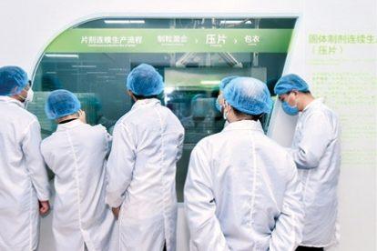 Nahrungsergänzungsmittel-Produktion bei By-Health in Zhuhai