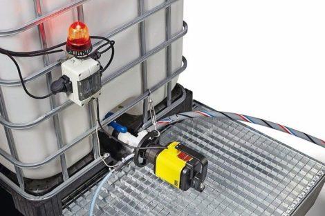 Produkt C: Containerpumpe mit Überwachungsmodul