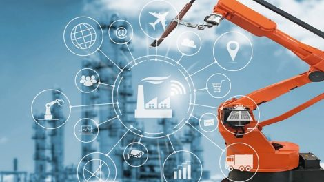 Industry_4.0_concept,_smart_factory_with_icon_flow_automation_and_data_exchange_in_manufacturing_technologies.