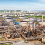 Aerial_view_of_twilight_of_oil_refinery_,Shot_from_drone_of_Oil_refinery_plant_,refinery_Petrochemical_plant_at_dusk_,_Bangkok,_Thailand.