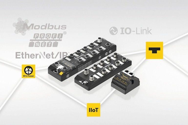 Turck;_03734257;_IO-Link_Infrastruktur;_Pressebild;_IIoT;_M12_Power;_TBEN-LL-8IOL;_FEN20-4IOL;_TBIL-LL-16DXP-AUX_