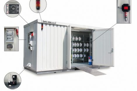 Gefahrstofflager mit Gaswarnanlage