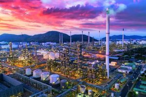 Land_scape_of_Oil_refinery_plant_from_bird_eye_view_on_night,_refinary_plant_with_oil_tank_storage,_Petrochemical_plant,_chamical_plant,_Chonburi,_Thailand
