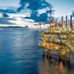 Panorama_of_Oil_and_Gas_central_processing_platform_in_twilight,_offshore_hard_work_occupation_twenty_four_working_hours.