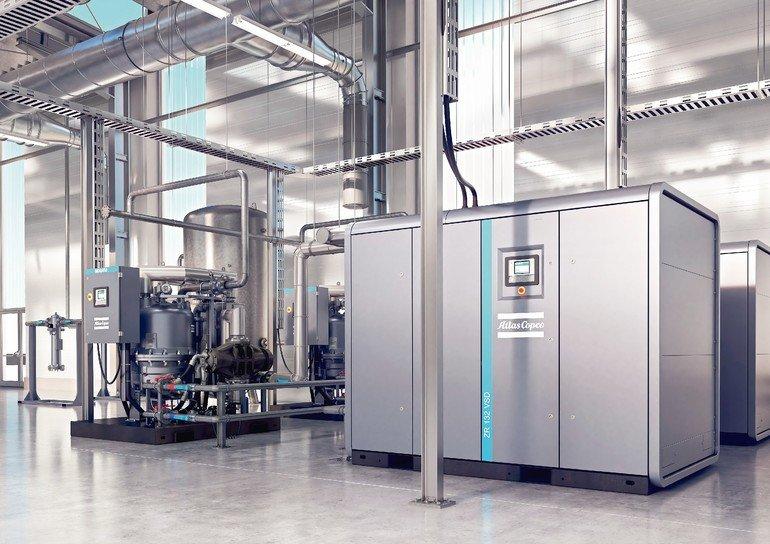 rotary_drum_dryer_MDG_450_oil-free_air_screw_compressor_ZR_132_VSD