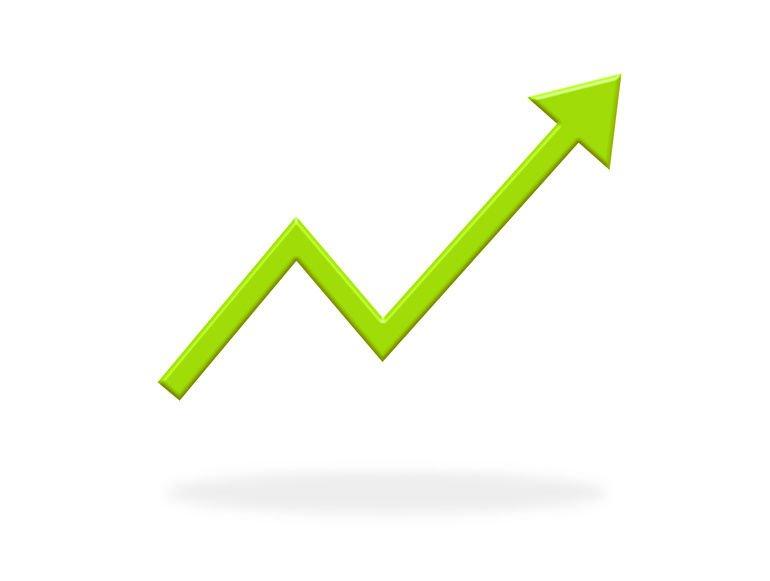 Grüner_Pfeil_zeigt_nach_oben_-_Icon_Banner_als_Symbol_für_steigende_Kurse,_Aktien,_Gewinn_oder_Erfolg
