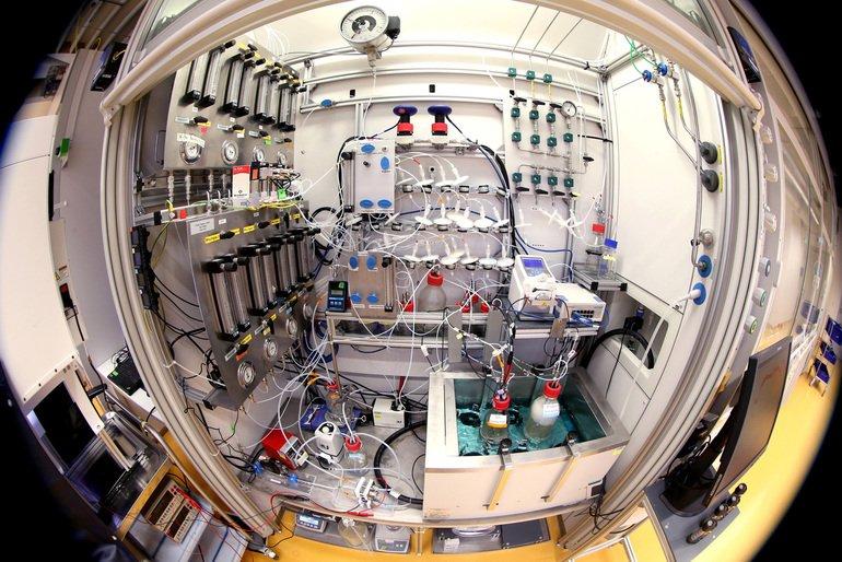 Evonik,_Chemie,_Fermenter_in_Marl,_Projekt_Rheticus_