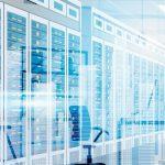 Data_Center_Room_Hosting_Server_Computer_Information_Database_Synchronize_Technology_Flat_Vector_Illustration