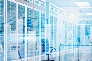 Data_Center_Room_Hosting_Server_Computer_Information_Database_Synchronize_Technology_Flat_Vector_Illustration
